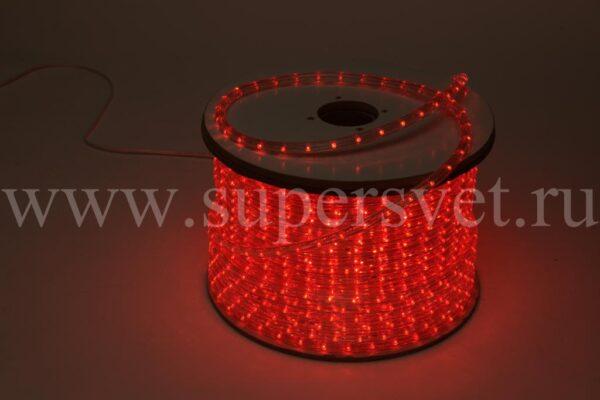 Светодиодный дюралайт ED-DL-3W-240V-R Мощность 1,44 Вт/м Кратность резки 4 м Цвет красный Поперечное сечение 13 мм