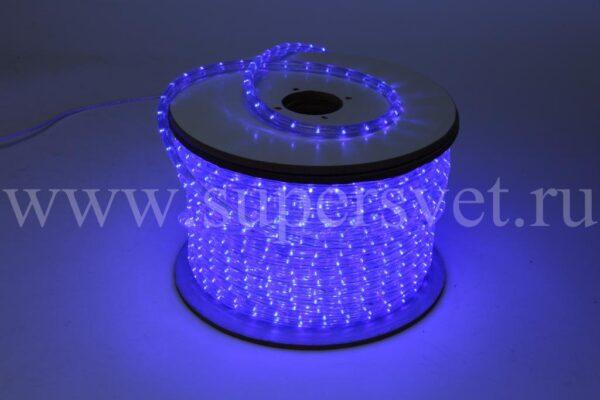 Светодиодный дюралайт Мощность 2.41 Вт/м Кратность резки 2 м Цвет синий Поперечное сечение 13 мм