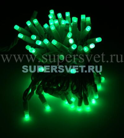 Светодиодная флеш гирлянда стринг лайт FSL-LED-9.2M-220V-G/BL Мощность 10 Вт Длина 9,2м Напряжение 220 Цвет зеленый