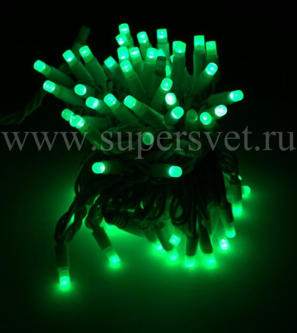 Светодиодная гирлянда FSL-LED-9.2M-220V-G/BL Мощность 10 Вт Длина 9,2м Напряжение 220 Цвет зеленый