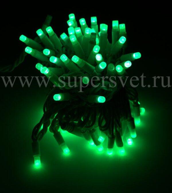 Светодиодная гирлянда FSL-LED-9.2M-220V-G/W Мощность 10 Вт Длина 9,2м Напряжение 220 Цвет зеленый