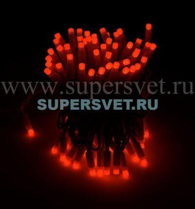 Светодиодная флеш гирлянда стринг лайт FSL-LED-9.2M-220V-R/BL Мощность 10 Вт Длина 9,2м Напряжение 220 Цвет красный
