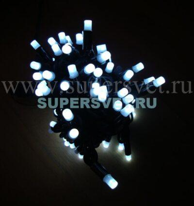 Светодиодная флеш гирлянда стринг лайт FSL-LED-9.2M-220V-W/BL Мощность 10 Вт Длина 9,2м Напряжение 220 Цвет белый