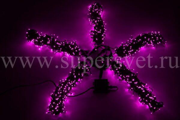 Светодиодная гирлянда фиксинг Спайдер LED-BS-200*5-20M*5-P Мощность 60 Вт Длина 20м Напряжение 24 Цвет розовый