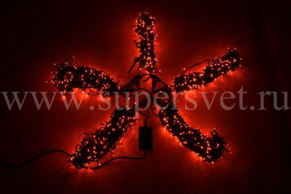 Гирлянда для деревьев LED-BS-200*5-20M*5-R Мощность 60 Вт Длина 20м Напряжение 24 Цвет красный