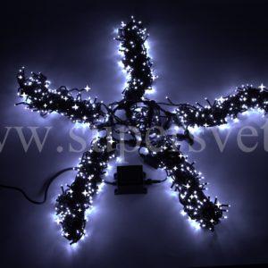 Гирлянда для деревьев LED-BS-20M*5-W-FLASH Мощность 60 Вт Длина 20м Напряжение 24 Цвет холодный белый