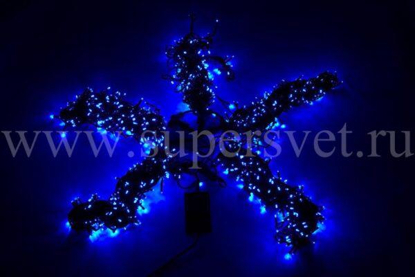 Гирлянда для деревьев LED-BW-200*5-20M*5-B Мощность 60 Вт Длина 20м Напряжение 24 Цвет синий
