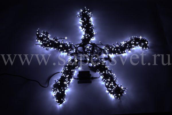 Гирлянда для деревьев чейзинг Спайдер LED-BW-200*5-20M*5-W Мощность 60 Вт Длина 20м Напряжение 24 Цвет холодный белый