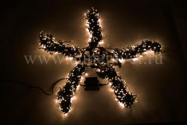 Гирлянда для деревьев LED-BW-200*5-20M*5-WW Мощность 60 Вт Длина 20м Напряжение 24 Цвет теплый белый