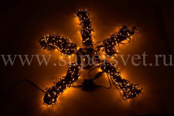 Гирлянда для деревьев LED-BW-200*5-20M*5-Y Мощность 60 Вт Длина 20м Напряжение 24 Цвет желтый