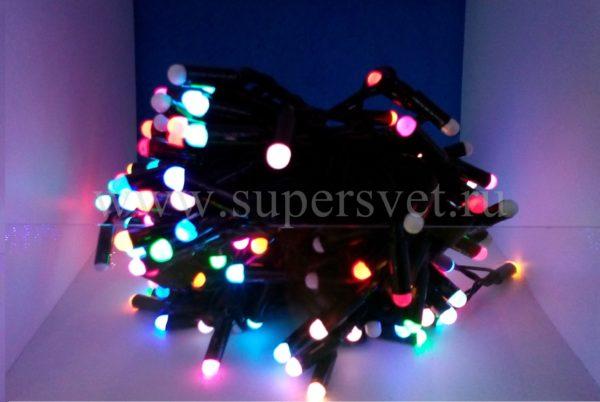 светодиодная гирлянда шарики Радуга LED-PHDL-200-20M-24V Мощность 10 Вт Длина 20м Напряжение 24 Цвет мульти