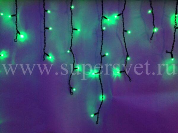 СВЕТОДИОДНЫЙ ЗАНАВЕС БАХРОМА LED-RPL-80-2М-240V-G/BL Мощность 9 Вт Основной шнур 2м Высота нити 20-60 см Цвет зеленый