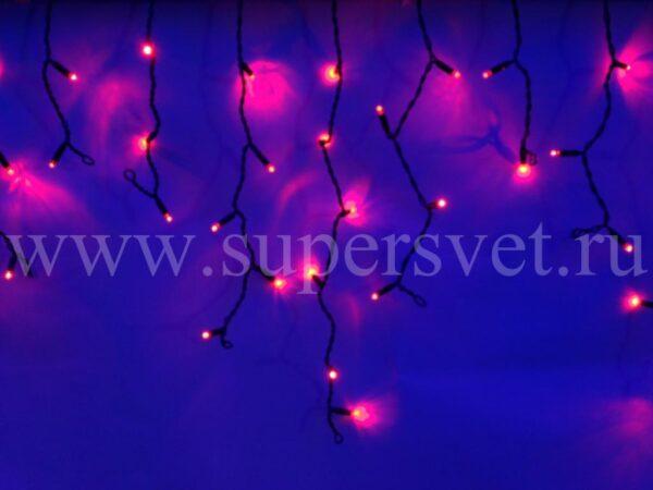 Светодиодный занавес бахрома LED-RPL-80-2М-240V-R/BL Мощность 9 Вт Основной шнур 2м Высота нити 20-60 см Цвет красный