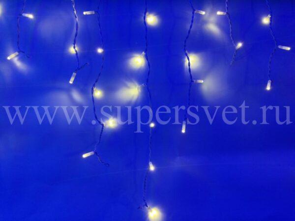 Светодиодный занавес бахрома LED-RPL-80-2М-240V-WW/BL Мощность 9 Вт Основной шнур 2м Высота нити 20-60 см Цвет теплый белый