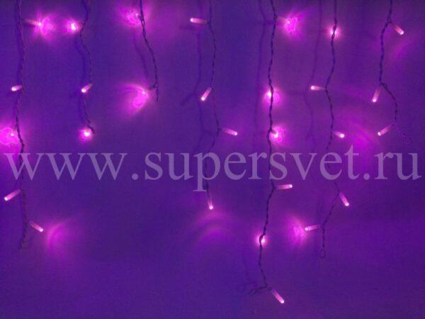 Светодиодный занавес LED-RPL-80-2М-240V-P/W Мощность 9 Вт Основной шнур 2м Высота нити 20-60 см Цвет розовый