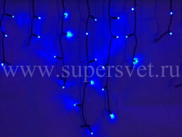 Светодиодный занавес бахрома LED-RPLR-80-2M-B/BL-FLASH Мощность 9 Вт Основной шнур 2м Высота нити 20-60 см Цвет синий