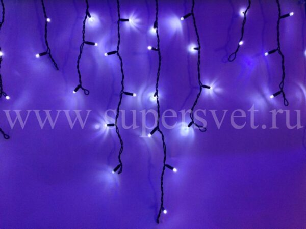 Светодиодный занавес LED-RPLR-80-2M-W/W-FLASH Мощность 9 Вт Основной шнур 2м Высота нити 20-60 см Цвет холодный белый