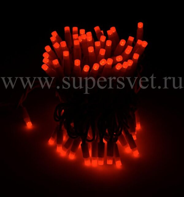Светодиодная гирлянда стринг лайт NFSL-LED-9.2M-220V-R/BL Мощность 10 Вт Длина 9,2м Напряжение 220 Цвет красный