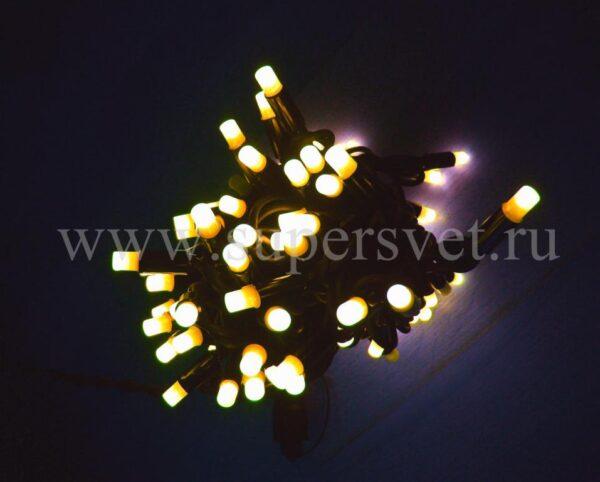Светодиодная гирлянда стринг лайт NFSL-LED-9.2M-220V-WW/W Мощность 10 Вт Длина 9,2м Напряжение 220 Цвет теплый белый