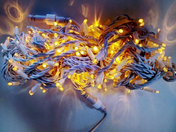 Светодиодная гирлянда LED-PL-BR-200-240V-Y НИТЬ Мощность 12 Длина 20м Напряжение 220 Цвет желтый