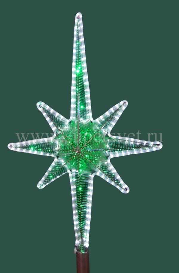 Светодиодная макушка для елей ВN-TOP-1,3M Мощность 14 Вт Размер H130см*L70см Цвет бело-зеленый Напряжение 24