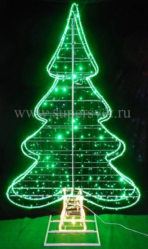 Светодиодная фигура ЕЛКА BN-XT-2.5М Мощность 60 Вт Размер H250см*L150см*W20см Напряжение 24 Цвет зеленый