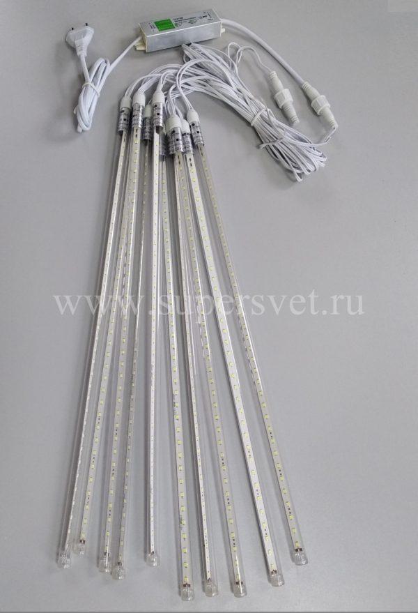 Светодиодная гирлянда LED-SF-50СМ-10М-12V-W Мощность 13 Вт Основной шнур 10м Высота 50 см Напряжение 12 Цвет белый