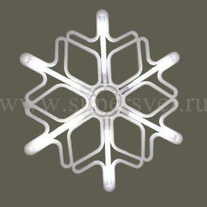 Светодиодная снежинка LED-LT-SNOW-MNL-60СМ-W/W напряжение 12 Размер 0.6×0.6 м цвет белый