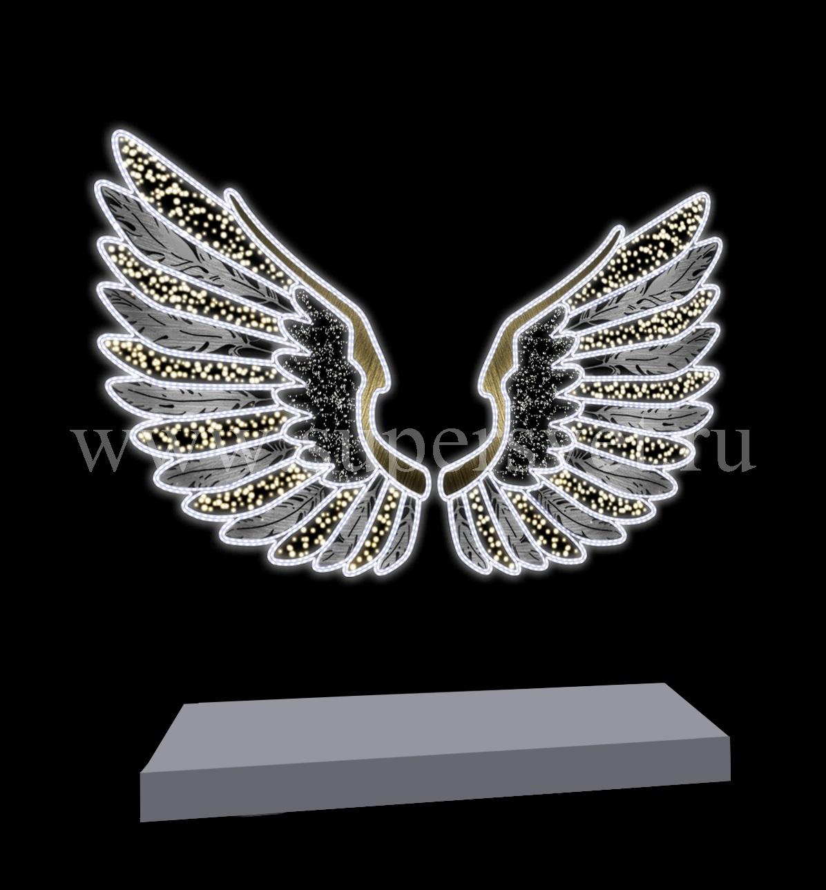 """Светодиодная конструкция """"Крылья"""" Размер 3.1м 3.2м Напряжение 220 Мощность 160 Вт"""
