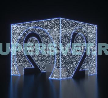 """Светодиодная конструкция """"Куб"""" Размер Н = 3 м L = 3,8 м B = 3,8 м Мощность 800 Вт"""