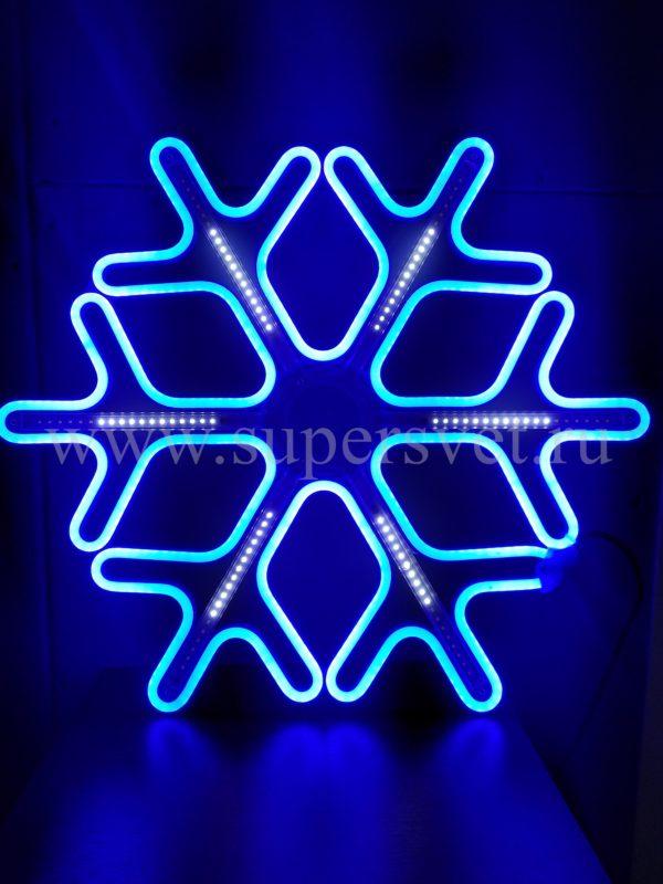 СВЕТОДИОДНАЯ СНЕЖИНКА LED-LT-SNOW-MNL-60СМ-B:W. Цвет: синий. Высота: 60 см. Ширина: 60 см. Напряжение: 12 В. Мощность: 44 Вт. Влагозащита: IP 65.