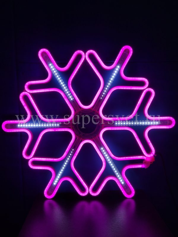 СВЕТОДИОДНАЯ СНЕЖИНКА LED-LT-SNOW-MNL-60СМ-P:W. Цвет: розовый. Высота: 60 см. Ширина: 60 см. Напряжение: 12 В. Мощность: 44 Вт. Влагозащита: IP 65.