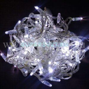 СВЕТОДИОДНАЯ ГИРЛЯНДА LED-PL-PVC-100-24V-W. Цвет: белый с белыми флеш-диодами. Длина: 10м. Мощность: 6 Вт. Напряжение: 24 В. Цвет провода: прозрачный. Материал провода: ПВХ. Влагозащита: IP 67