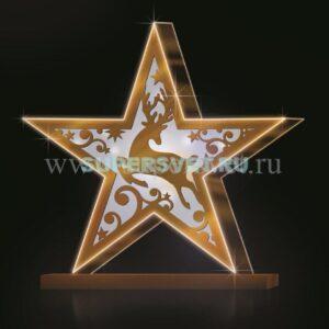 Светодиодная конструкция звезда. Высота: 2,25м. Длина: 2,3м. Напряжение: 220 В. Мощность: 50 Вт. Влагозащита: IP 54
