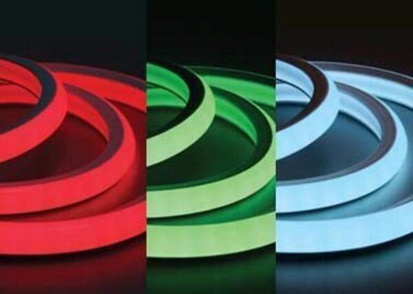 Гибкий неон RGB Мощность 12 Вт, кратность резки 1 м, цвет: МУЛЬТИ